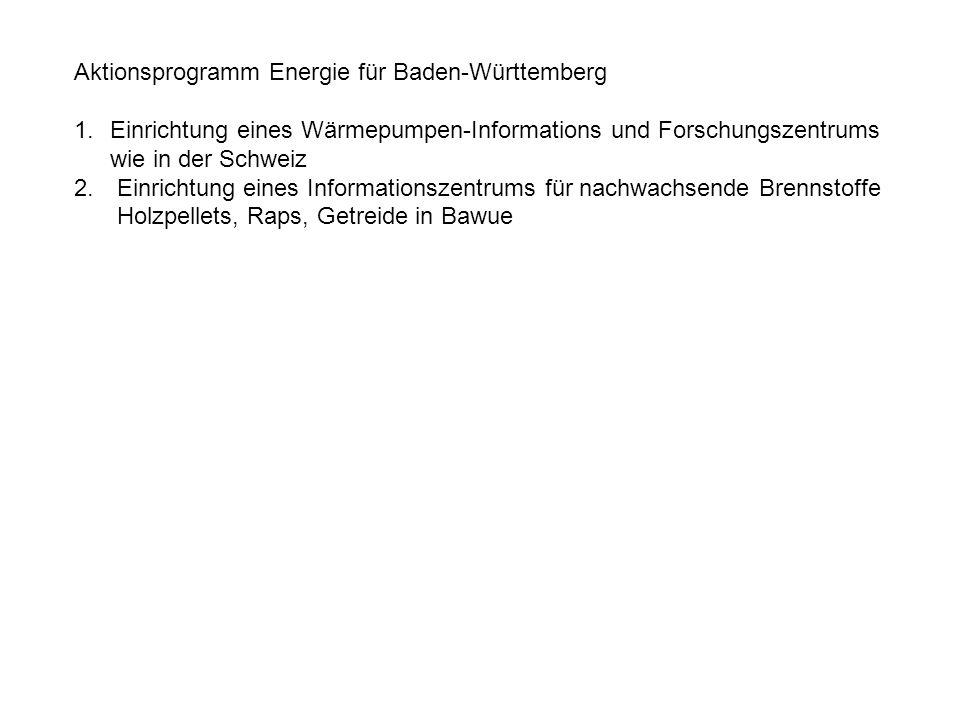 Aktionsprogramm Energie für Baden-Württemberg