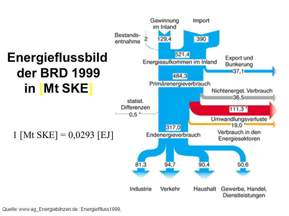 Energieflussbild der BRD 1999