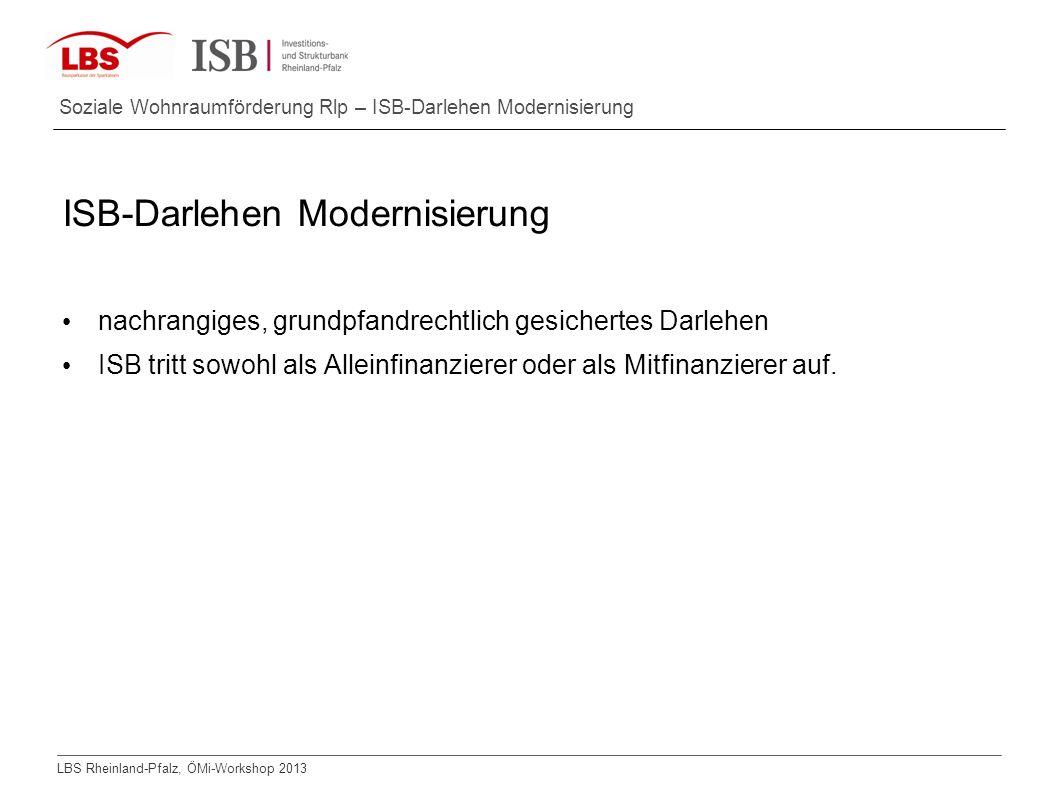 ISB-Darlehen Modernisierung