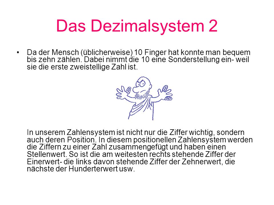 Das Dezimalsystem 2