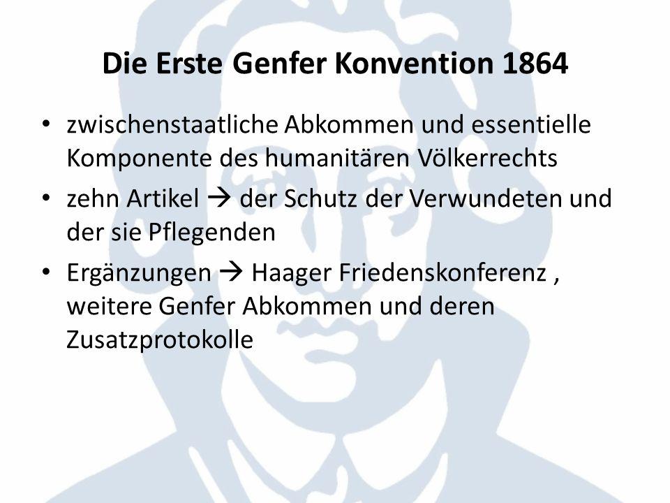 Die Erste Genfer Konvention 1864