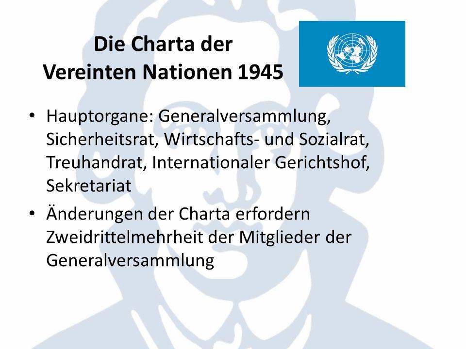 Die Charta der Vereinten Nationen 1945