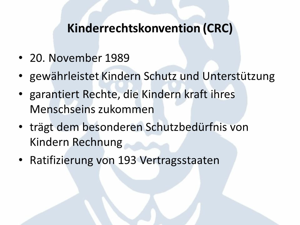 Kinderrechtskonvention (CRC)