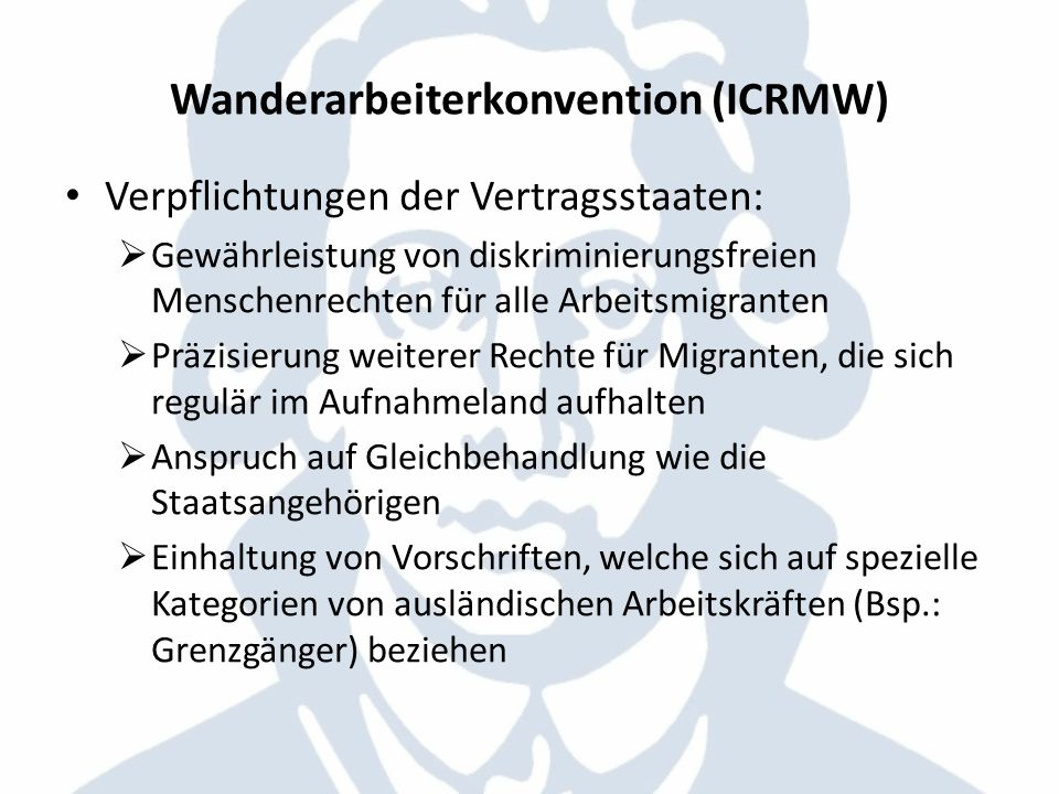 Wanderarbeiterkonvention (ICRMW)