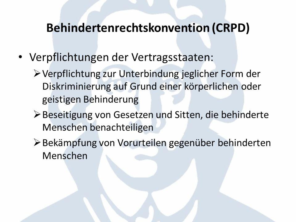 Behindertenrechtskonvention (CRPD)