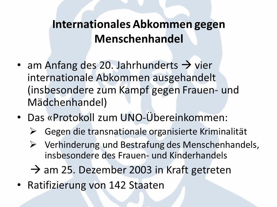 Internationales Abkommen gegen Menschenhandel