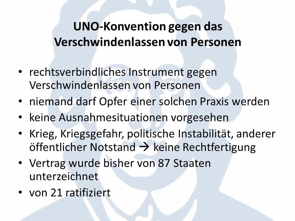 UNO-Konvention gegen das Verschwindenlassen von Personen