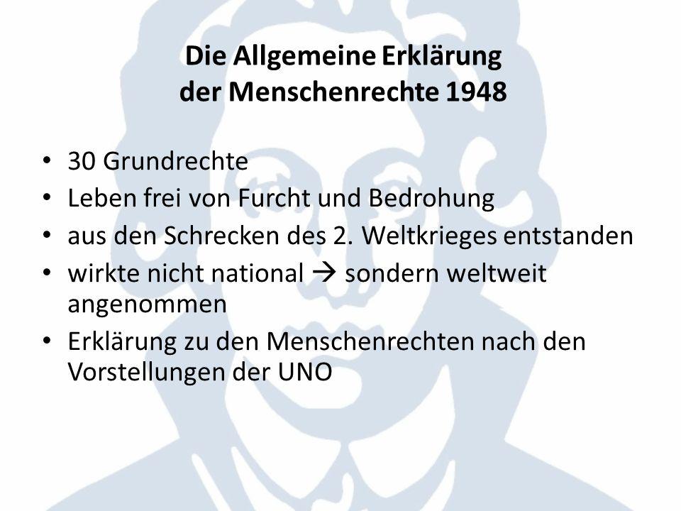 Die Allgemeine Erklärung der Menschenrechte 1948