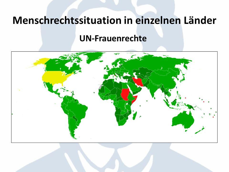 Menschrechtssituation in einzelnen Länder