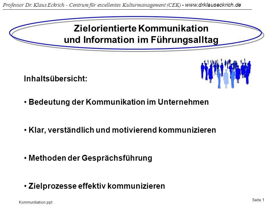 Zielorientierte Kommunikation und Information im Führungsalltag