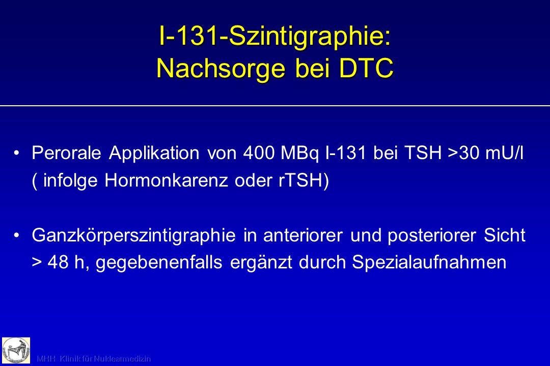 I-131-Szintigraphie: Nachsorge bei DTC