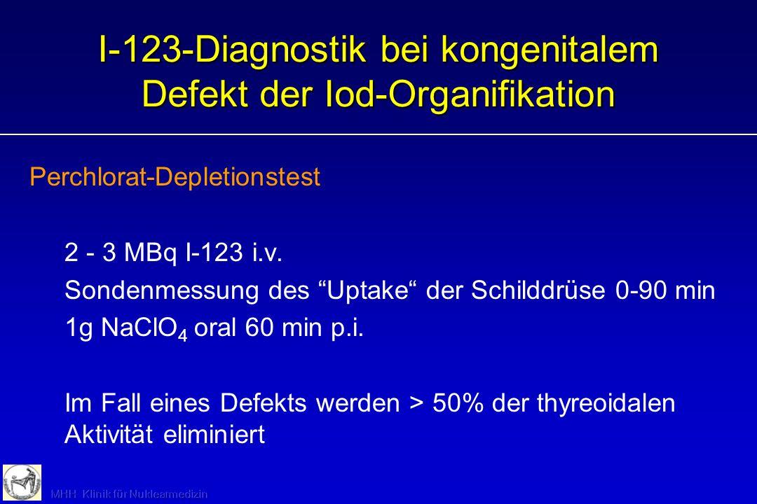 I-123-Diagnostik bei kongenitalem Defekt der Iod-Organifikation