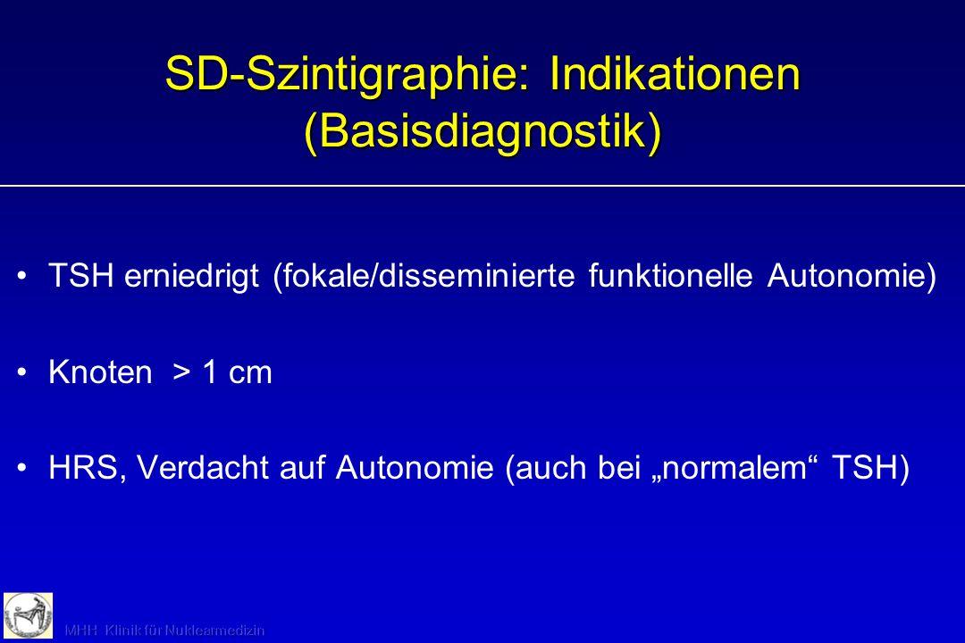 SD-Szintigraphie: Indikationen (Basisdiagnostik)