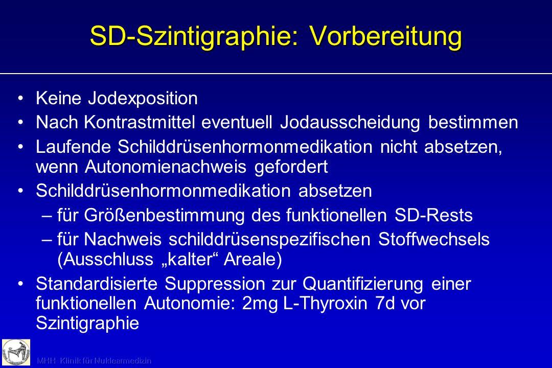 SD-Szintigraphie: Vorbereitung