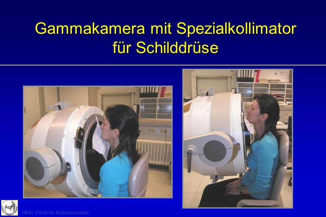 Gammakamera mit Spezialkollimator für Schilddrüse