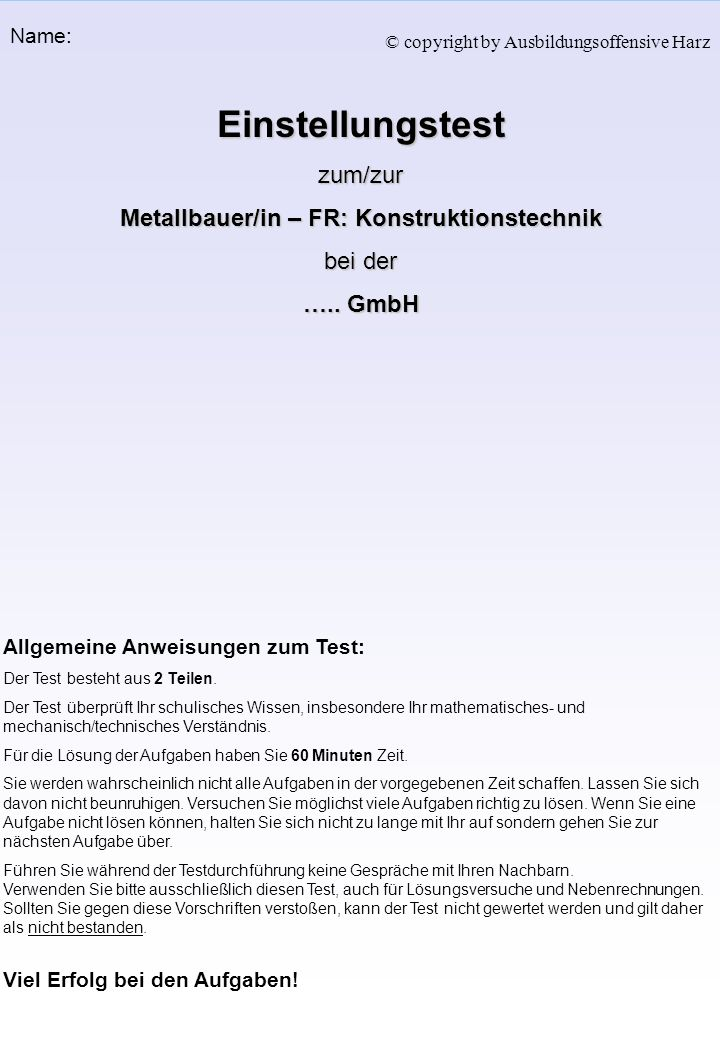 Metallbauer/in – FR: Konstruktionstechnik