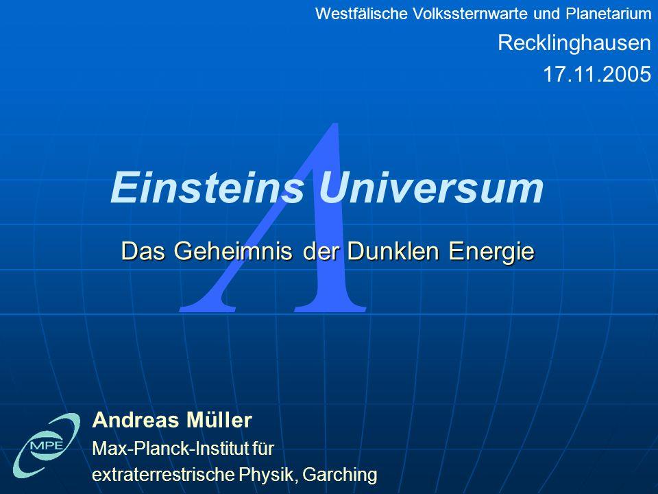 Das Geheimnis der Dunklen Energie