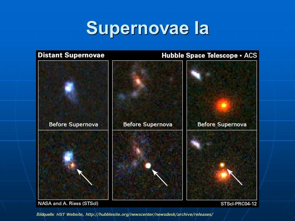 Supernovae Ia Bildquelle: HST Website, http://hubblesite.org/newscenter/newsdesk/archive/releases/