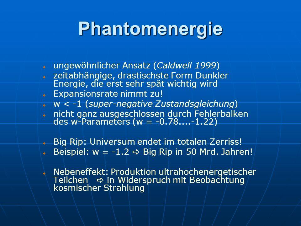 Phantomenergie ungewöhnlicher Ansatz (Caldwell 1999)
