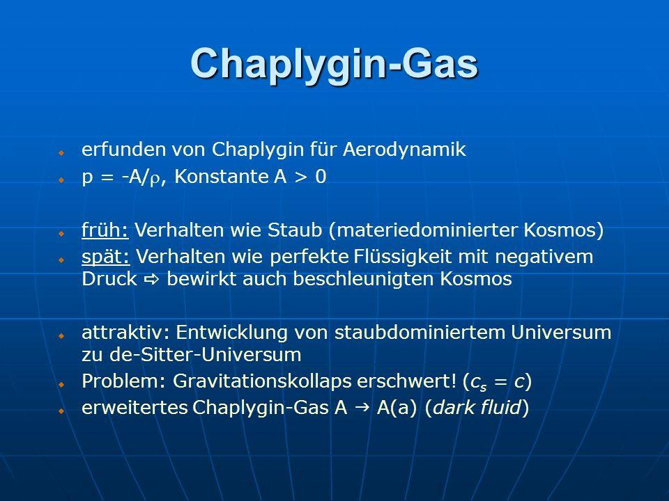 Chaplygin-Gas erfunden von Chaplygin für Aerodynamik