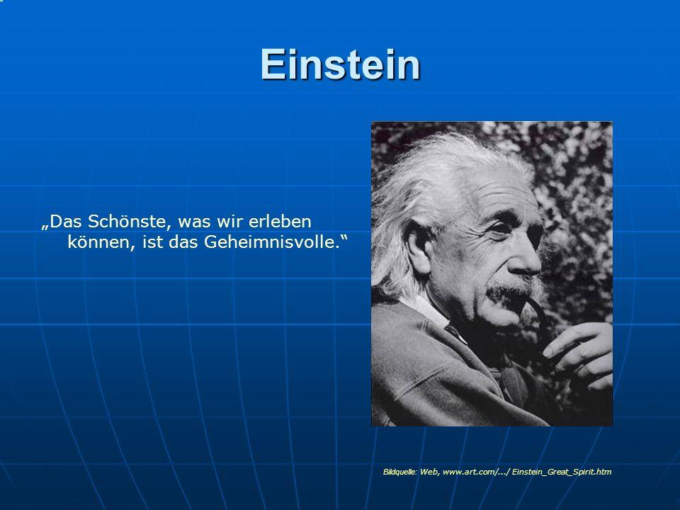 """Einstein """"Das Schönste, was wir erleben können, ist das Geheimnisvolle. Bildquelle: Web, www.art.com/.../ Einstein_Great_Spirit.htm."""