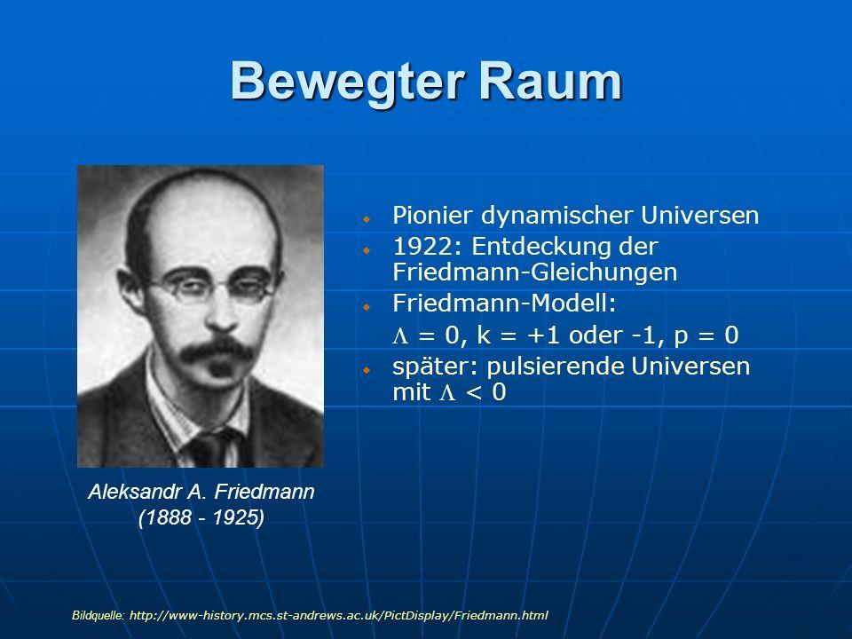 Bewegter Raum Pionier dynamischer Universen