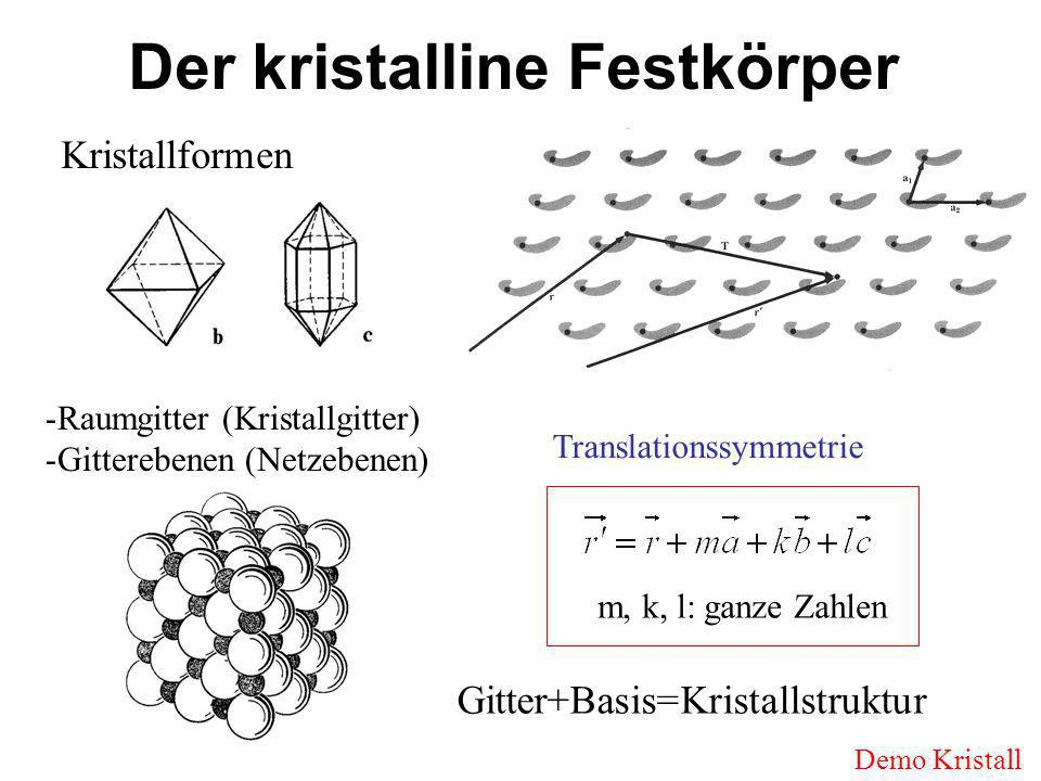Der kristalline Festkörper