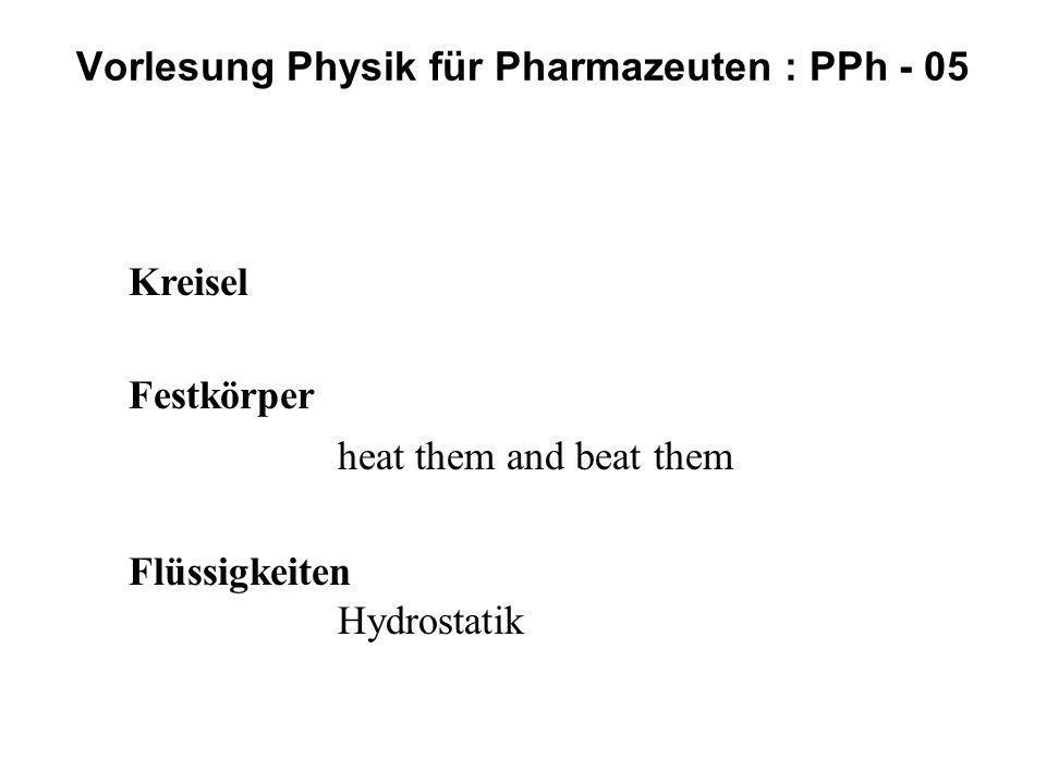 Vorlesung Physik für Pharmazeuten : PPh - 05