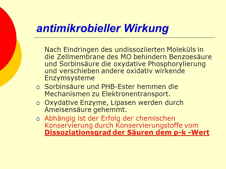 antimikrobieller Wirkung