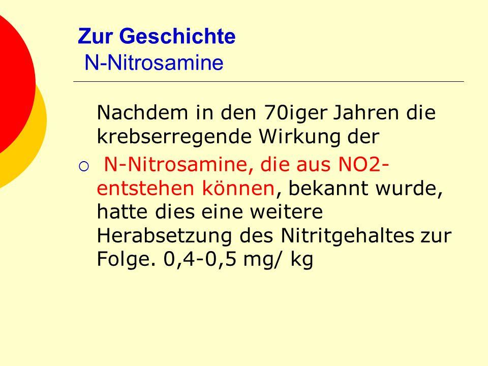 Zur Geschichte N-Nitrosamine