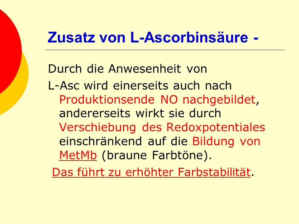 Zusatz von L-Ascorbinsäure -
