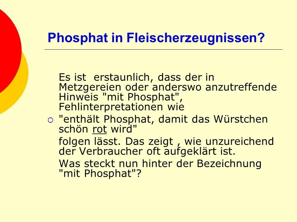 Phosphat in Fleischerzeugnissen