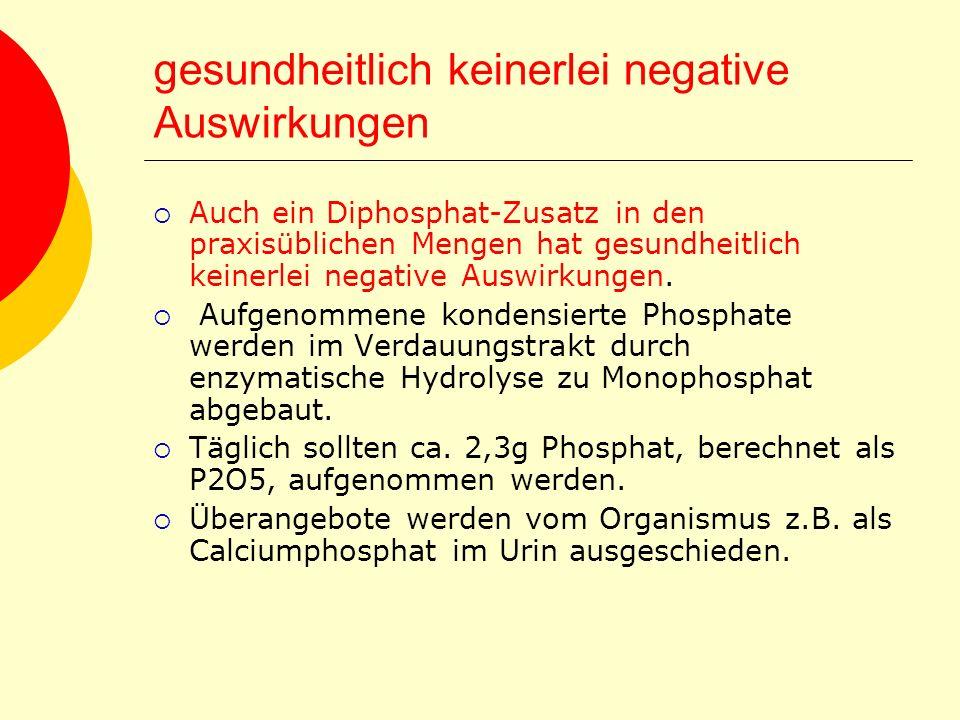 gesundheitlich keinerlei negative Auswirkungen