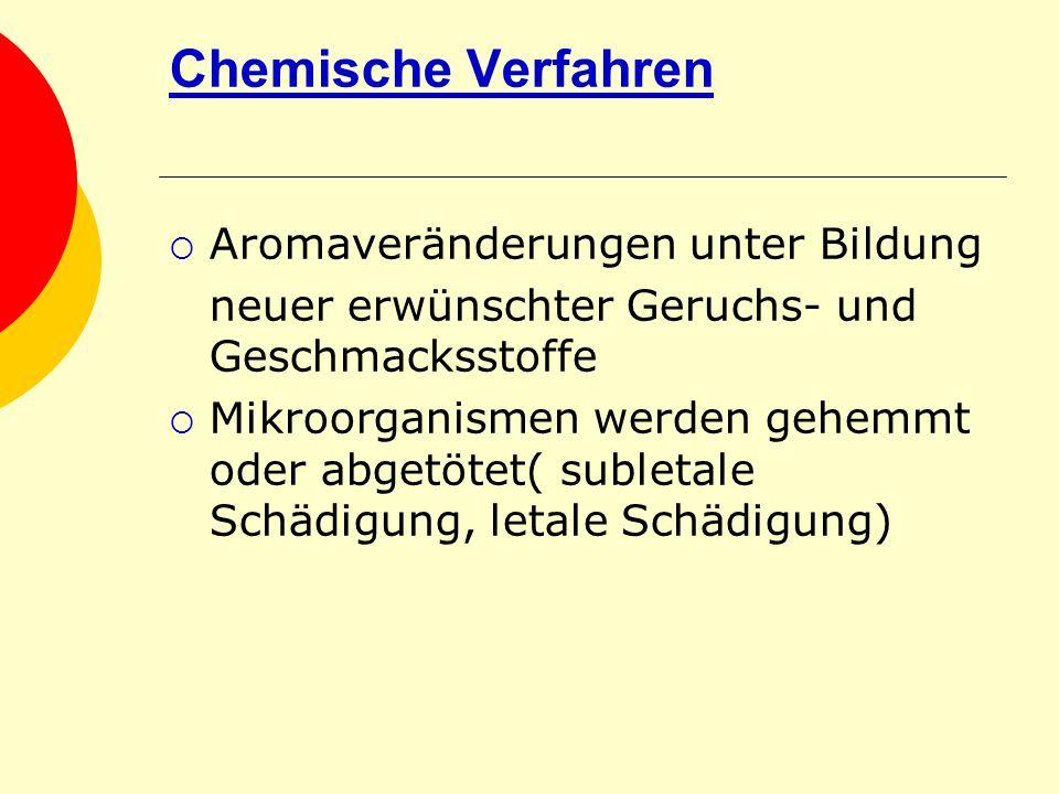 Chemische Verfahren Aromaveränderungen unter Bildung