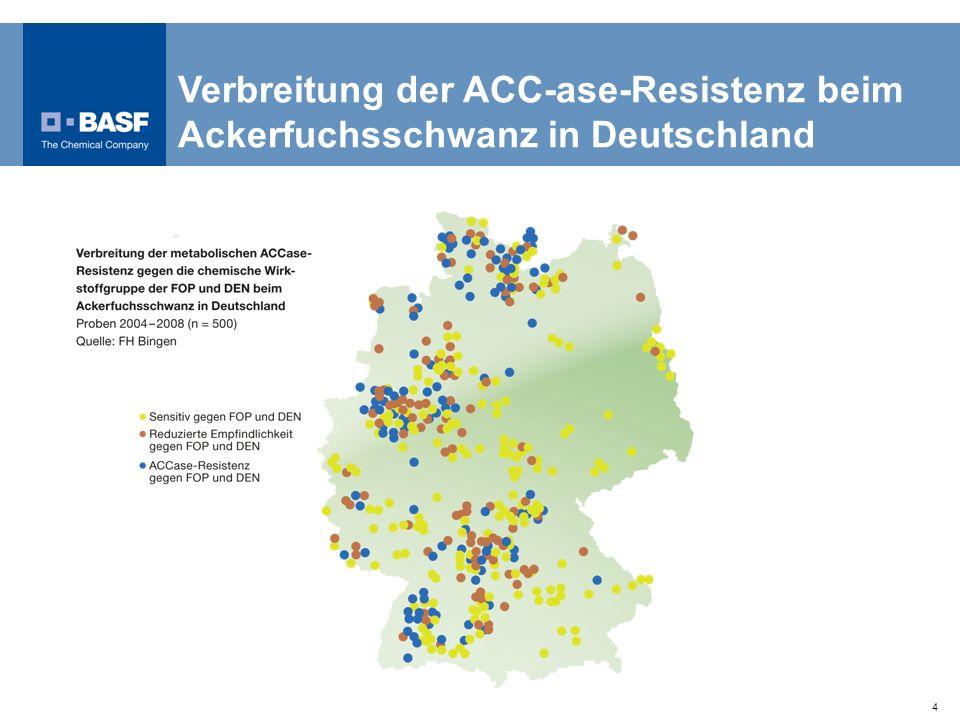Verbreitung der ACC-ase-Resistenz beim Ackerfuchsschwanz in Deutschland