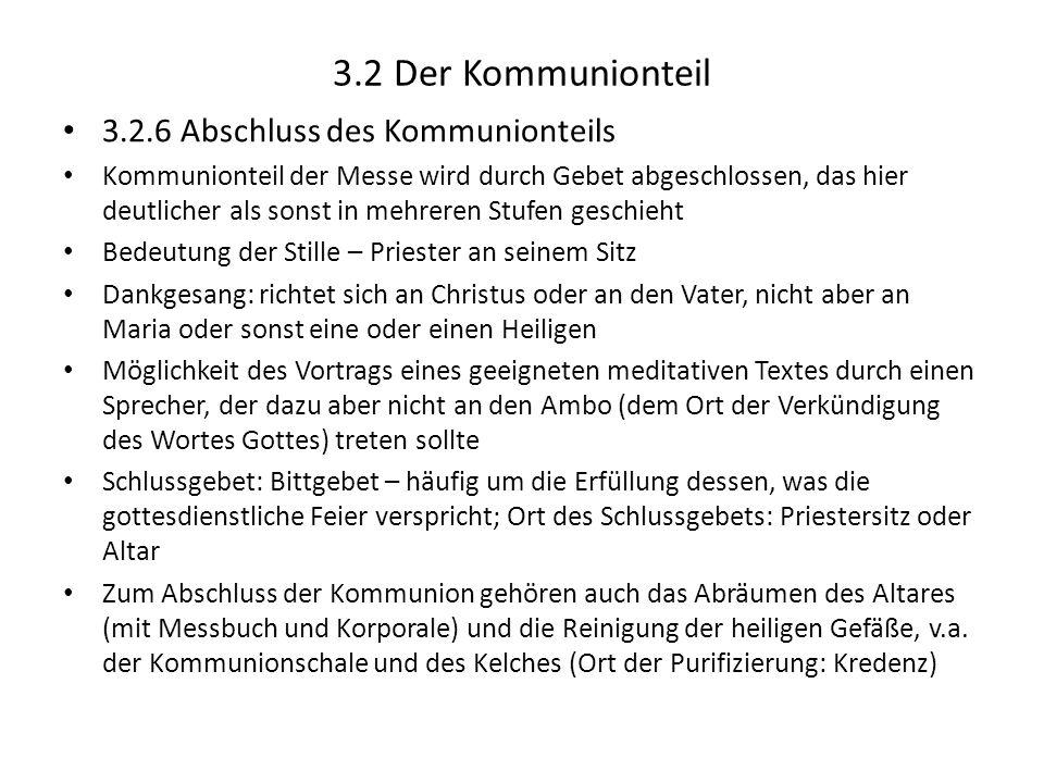 3.2 Der Kommunionteil 3.2.6 Abschluss des Kommunionteils