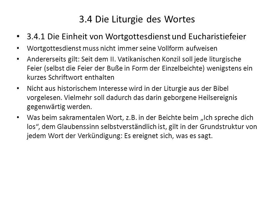 3.4 Die Liturgie des Wortes