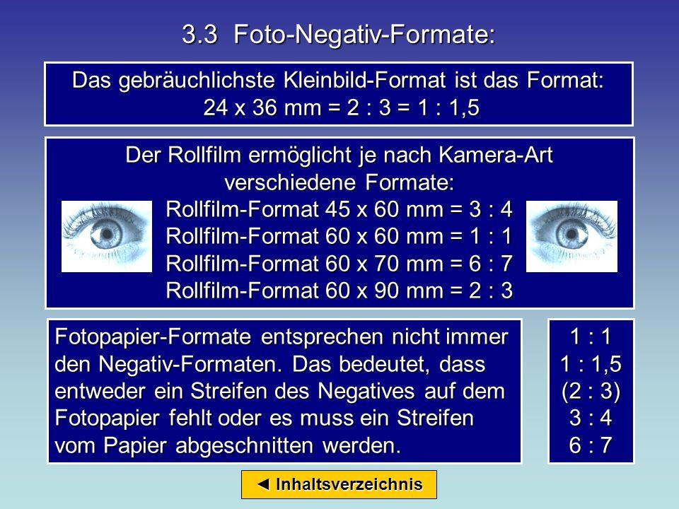 3.3 Foto-Negativ-Formate: