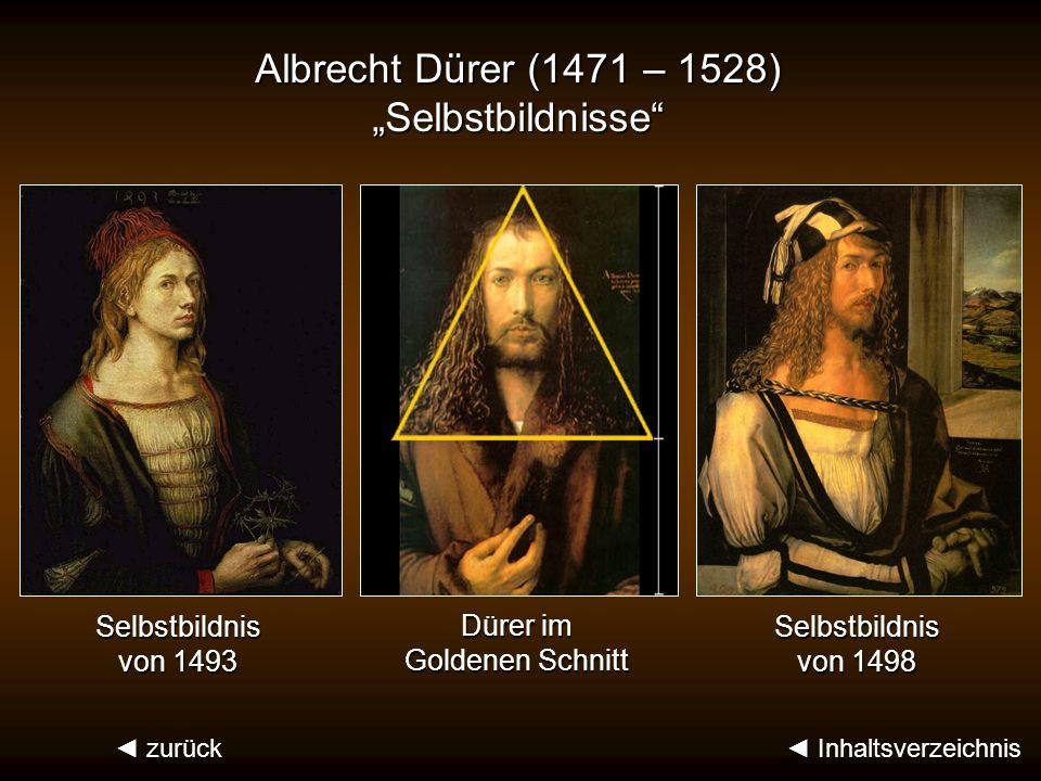 """Albrecht Dürer (1471 – 1528) """"Selbstbildnisse"""