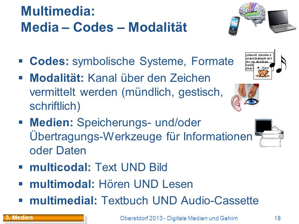 Multimedia: Media – Codes – Modalität