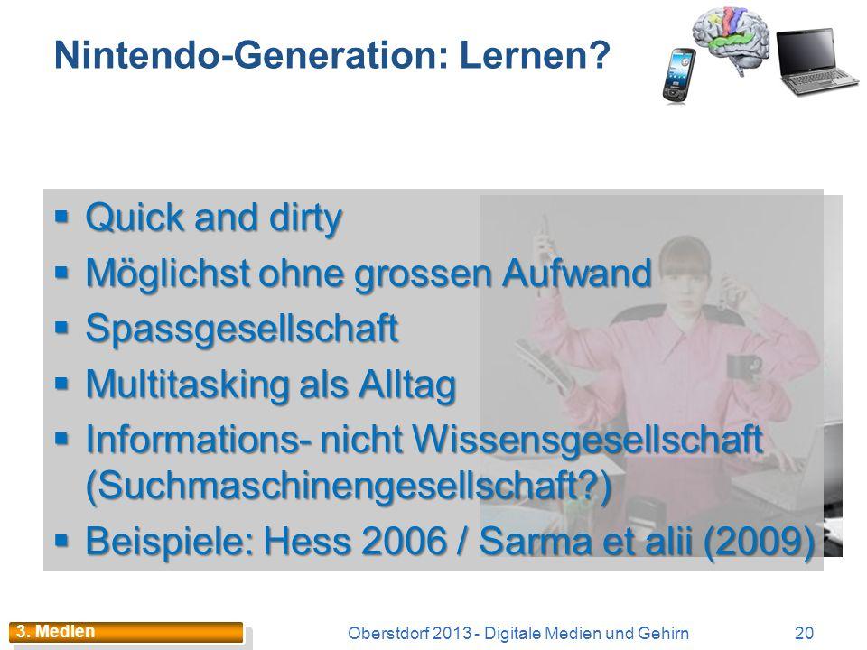 Nintendo-Generation: Lernen