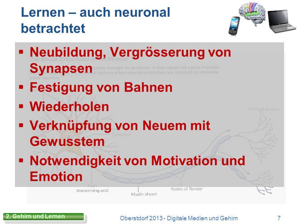 Lernen – auch neuronal betrachtet