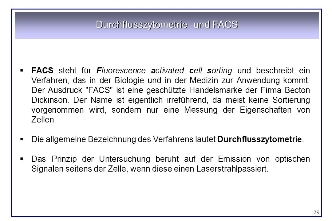 Durchflusszytometrie und FACS