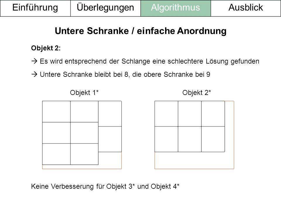 Untere Schranke / einfache Anordnung