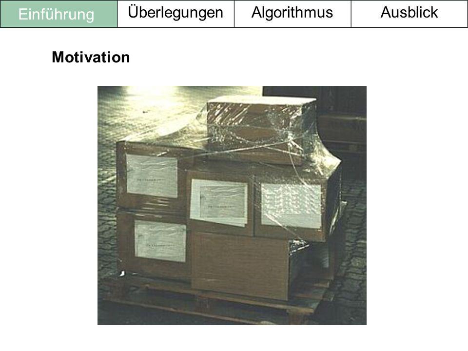 Einführung Überlegungen Algorithmus Ausblick Motivation