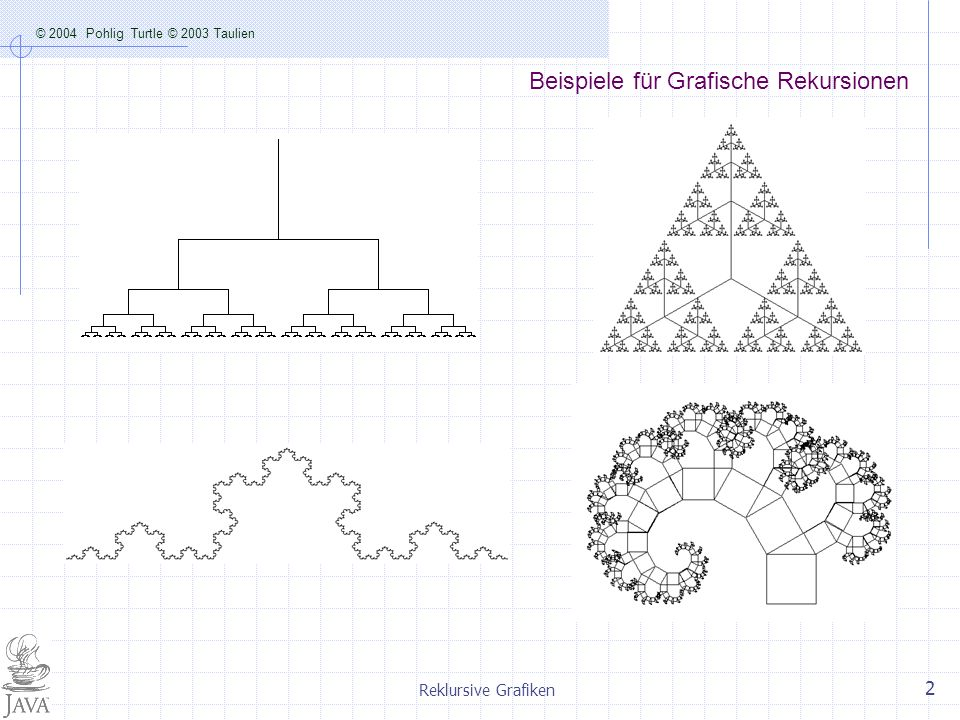 Beispiele für Grafische Rekursionen