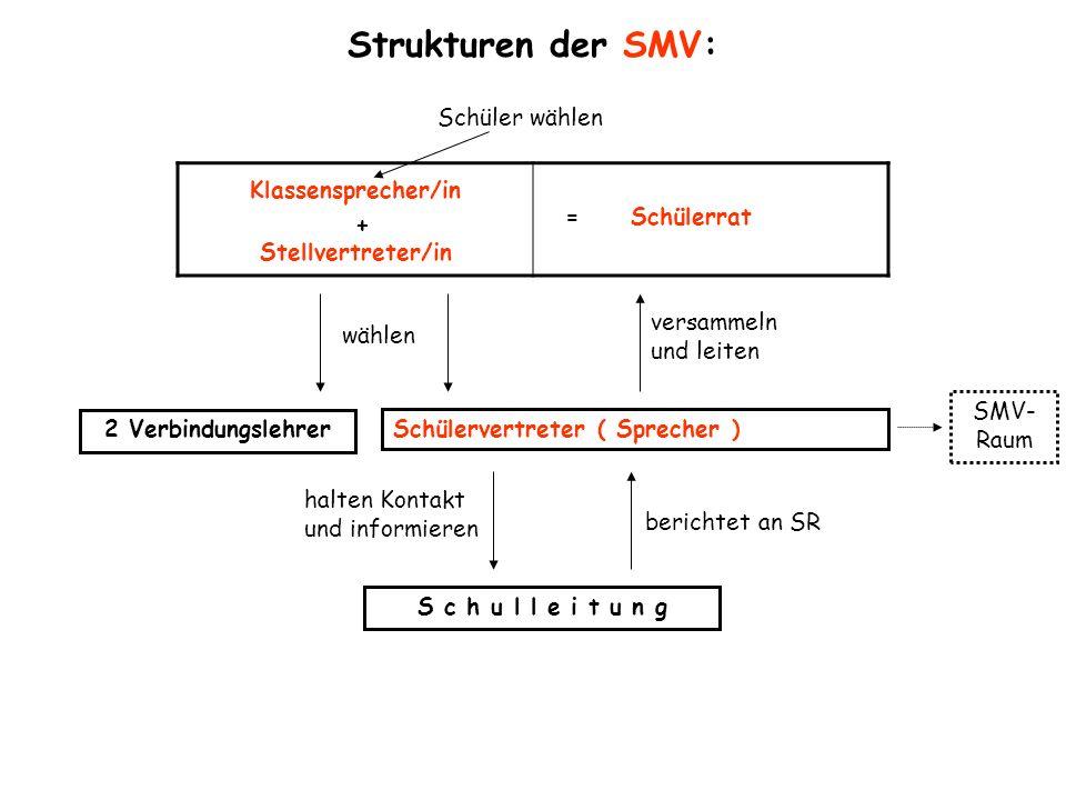 Strukturen der SMV: Schüler wählen Klassensprecher/in