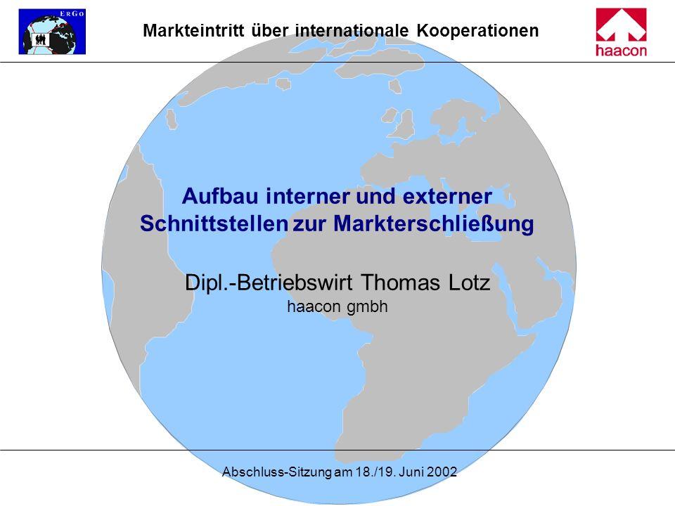 Markteintritt über internationale Kooperationen