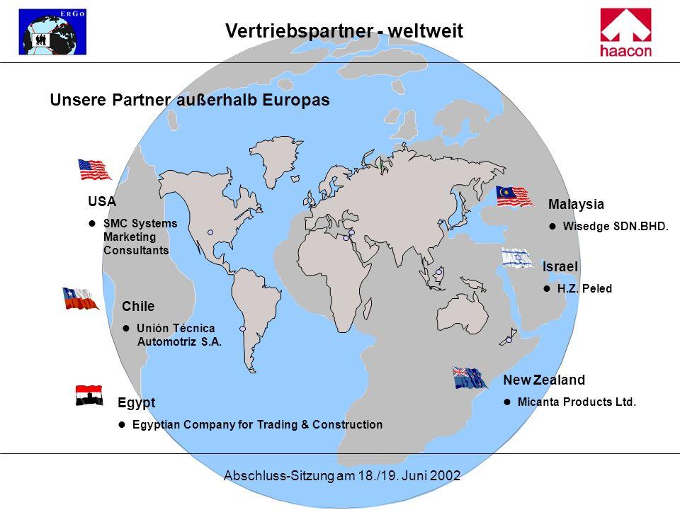 Vertriebspartner - weltweit