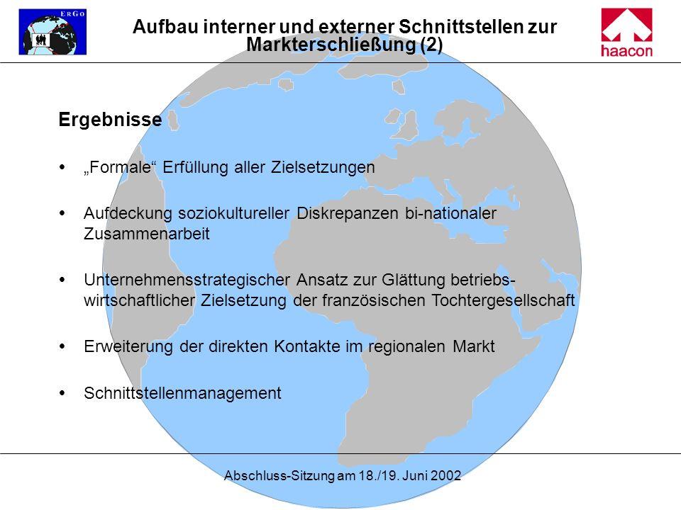 Aufbau interner und externer Schnittstellen zur Markterschließung (2)